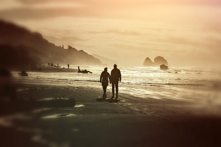 pair on beach